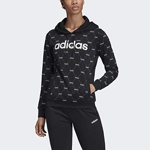adidas Core Favorite Hoodie Black/Glow Blue XS