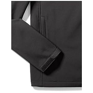 Amazon Essentials Men's Water-Resistant Softshell Jacket, Black, XX-Large