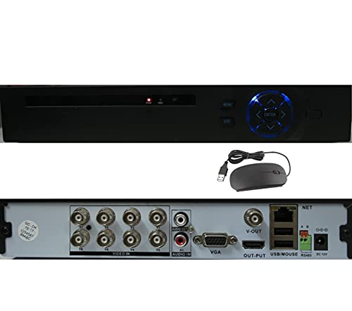 DVR 1080P Lite 8 Canali 1080N Videoregistratore Network Digital Video Recorder H.264 HDMI Email Allarme ONVIF con Telecamera IP/AHD/TVI/CVI/Analogica Motion Detection senza HDD