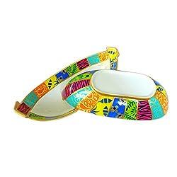 handpainted bright pattern Porcelain rainbow bowl