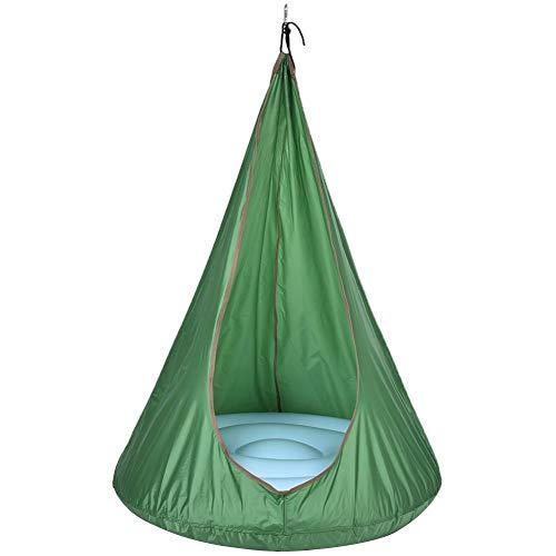 Wonderday Handtassen Pod schommel kinderen hangmat hangstoel zitting van gekleurde zijden doek stoel klappen vrije tijd park indoor spel apparaten duurzaam Oxford doek geschenk klassy