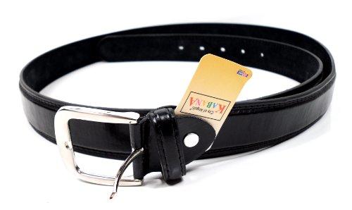 flevado XXL Gürtel schwarz extra Langer Leder Gürtel Bundweite 140, 150, 160 cm Übergrößengürtel mit Dornschließe (160 cm Bundweite)