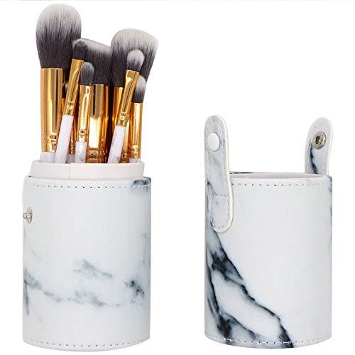 PanStro 10 pièces leather par marbre Pinceaux de Maquillage Ensemble avec marbre cosmétiques Outils Sacs(Ne contient pas de pinceau de maquillage)
