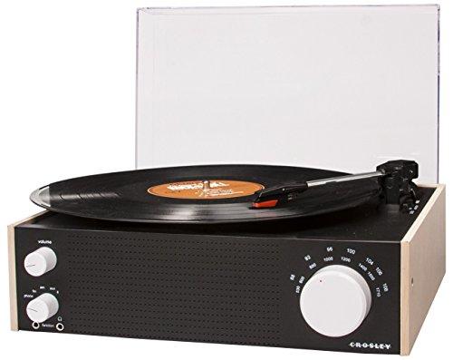 Crosley CR6023A-NAEU - Switch para tocadiscos de tres velocidades, inalámbrico, transparente