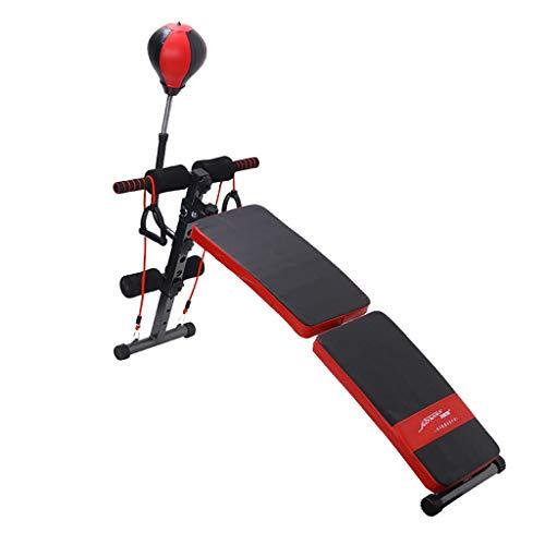 HHOO - Fitness THS@ Banco da Allenamento Regolabile Panca da Allenamento Inclinata Seduta su Banco da Allenamento Ab con Panca Speed Ball Panca Pesi Nero e Rosso 02