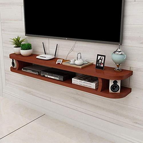 GWZSX Estante de Pared Estante Flotante TV Mueble de TV Mueble de Consola Consola Soporte de TV Estante de Almacenamiento Multimedia Fondo de TV Estante de decoración de pared-100CM re
