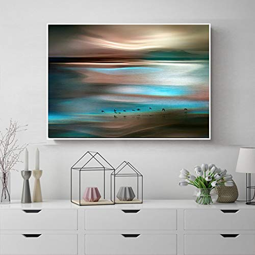 Yaoxingfu Sin Marco Modern Abstract Landscape Canvas
