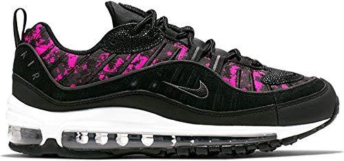 Nike Damen W Air Max 98 PRM Leichtathletikschuhe, Mehrfarbig (Black/Black/Hyper Pink 000), 40 EU