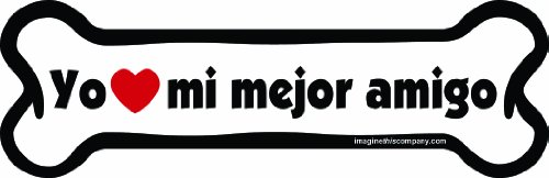 Imagine Cet Aimant, OS, Plastique, 5,1 x 17,8 cm, Yo Mi Mejor Amigo