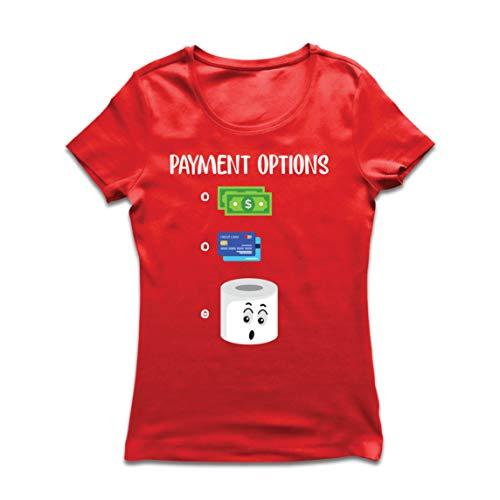 lepni.me Women's T-Shirt 2020 Quarantine Most Preferred Payment Toilet Paper Shortage (XX-Large Red Multi Color)