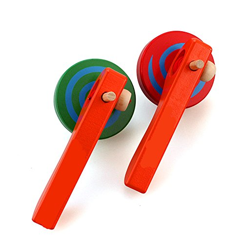 Buy Cheap GoodPlay 2PCS Wooden Spinning Top Gyroscope peg-top with Handle and Pull String Wire,can L...