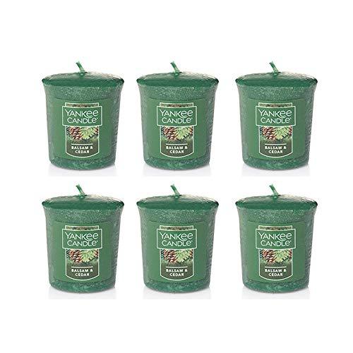 Yankee Candle Lot of 6 Balsam & Cedar Votives