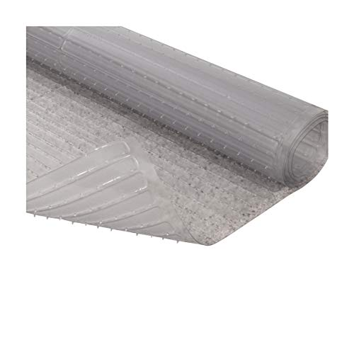 Resilia - Clear Vinyl Plastic Floor Runner/Protector for Deep Pile Carpet - Skid-Resistant Decorative Pattern, (27 Inches Wide x 6 Feet Long)