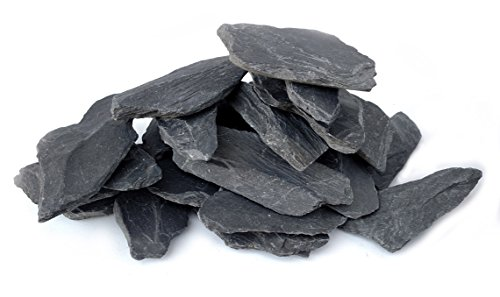 Natural Slate Stone 3 to 5 inch Rocks for Miniature and Fairy Garden, Aquascaping Aquariums, Reptile enclosures & Model Railroad. (5lbs)