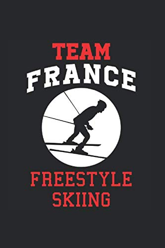 Team France Freestyle Skiing: Cool Animated Design For Ski Player Athletes Lover Any Occasion Notebook Composition Book Novelty