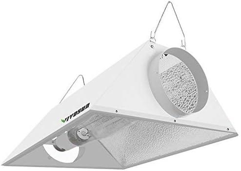 VIVOSUN Hydroponics 6 Air Cooled Grow Light Reflector for 250 400 600 1000W HPS MH Bulbs High product image