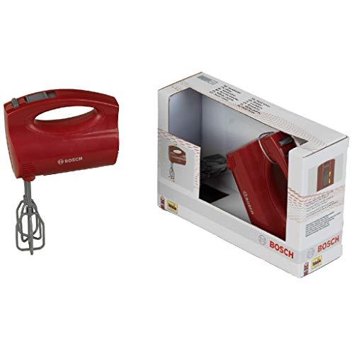 Theo Klein 9574 Bosch Handmixer I Batteriebetriebene Mixer mit Sich drehenden Quirls I Maße: 19 cm x 7 cm x 12 cm I Spielzeug für Kinder ab 3 Jahren, Mehrfarbig
