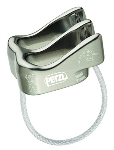 PETZL - Verso Lightweight Belay/Rappel Device, Gray, Gray