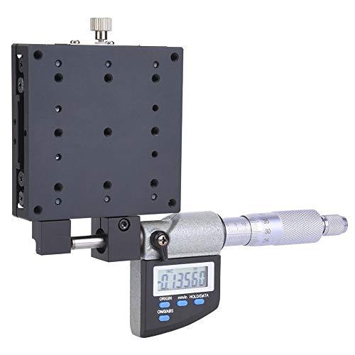 Plataforma de micrómetro SEMX80-AS Plataforma de micrómetro con pantalla digital, tamaño de mesa 80x80 mm 0.001 mm Etapa de traducción lineal