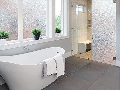 TFOOD raamfolie, bescherming tegen gegevens van matglas, esthetische statische kunst, decoratie, uv-bescherming, zelfklevende folie, aanbrengen op keuken, badkamer 60x100cm