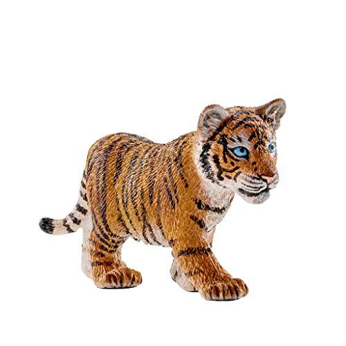 Schleich- Figura de Cachorro de Tigre, Colección Wild Life,