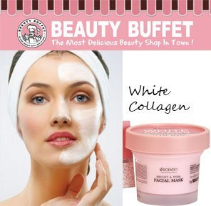 Scentio White Collagen Bright and Firm Facial Mask 100ml