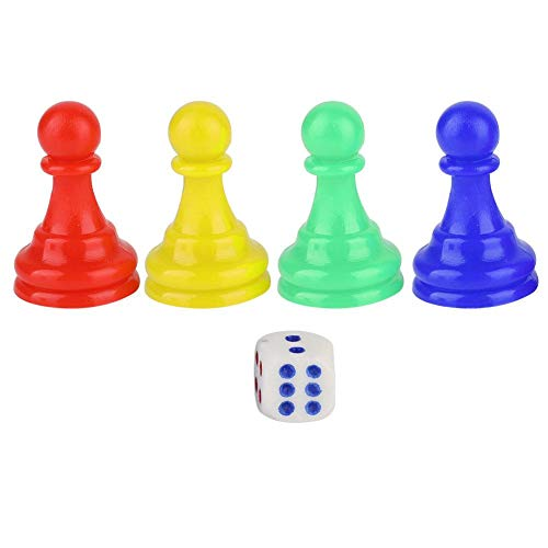 Vbest life 4 Uds Pieza de Juego Peón 1 Dado plástico Colorido...