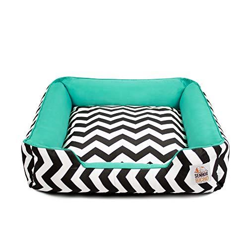 Pet Dog Cat Lord Pet Pandora Bed With Zipper - G - Green Chevron