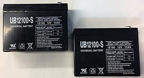 Universal Power Group 12V 10Ah New Battery for EZIP Scooter 4.0, 400, 450, 500-2 Pack