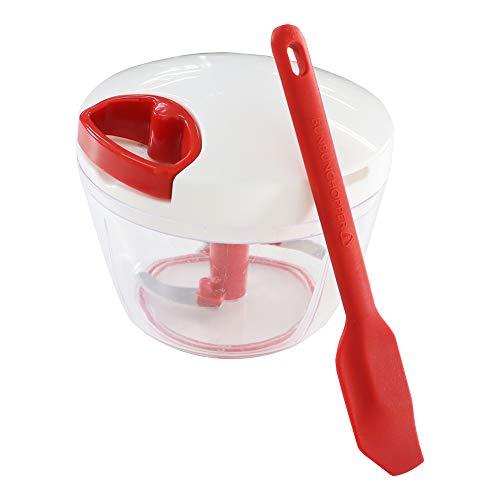 ぶんぶんチョッパー スパチュラ セット みじん切り器 ふたも洗える (ぶんぶんチョッパーR スパチュラセット(レッド))