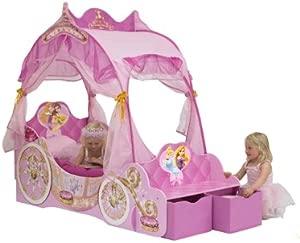 Disney Princess Carriage Toddler Bed plus Deluxe Foam Mattress