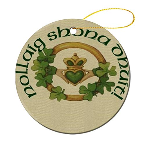 Christmas Claddagh Christmas ceramic Ornaments Quarantined Tree Hanging Ornaments Friend Survive Novelty Souvenir Christmas Tree Pendant Ornament to Remember This Year!
