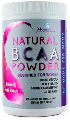 BCAA Powder Preworkout for Women - BCAA Amino Sweetened Naturally with Stevia, Erythritol, and Monk Fruit - 40 Servings (Fruit Punch)