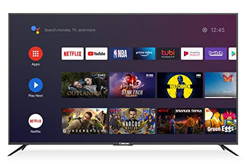 Caixun 75-Inch Smart TV 4K UHD LED TV - C75 2160P Ultra Slim Large Flat Screen Television with HDR10 and Voice Remote Control - Support Screen Cast Mirroring (2020 Model)