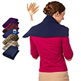 Weighted Heating Pad for Neck and Shoulders - Massage Blanket For Back Pain - Non Electric Heat Wrap Therapy - Whole Wheat Filled Hot & Cold Compress - Muscle Injuries Pure Relief by Sunnybay (XLarge)