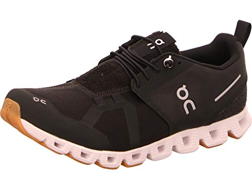 ON Running Womens Cloud Terry Textile Black White Trainers 10 US
