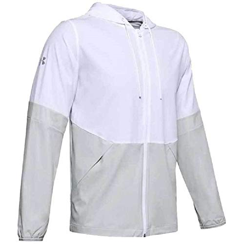 Under Armour Squad 2.0 - Chaqueta impermeable para hombre - 1343180, 3X, 100 blanco/halo.