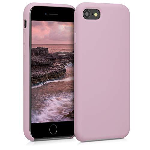 kwmobile Custodia Compatibile con Apple iPhone 7 8   SE (2020) - Cover in Silicone TPU - Back Case per Smartphone - Protezione Gommata Malva Pastello