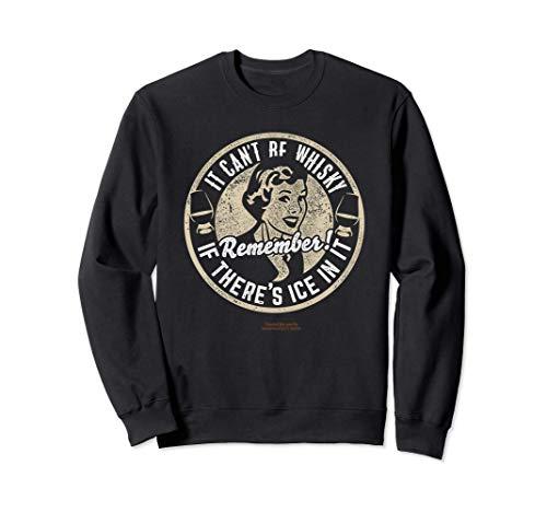 Whisky Design Ice & Whisky - Das Original Sprüche Whisky Sweatshirt