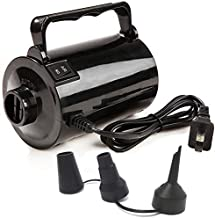 Electric Air Pump for Inflatable Pool Toys - High Power Quick-Fill Air Mattress Inflator Deflator Pump for Pool Float Raft Airbed with 3 Nozzles, 320W, 110V AC, 1.6PSI, Air Flow 26CFM, Black