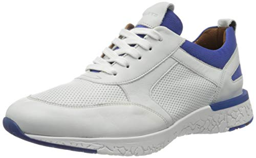 LLOYD Herren BANDOS Sneaker, Weiß (Offwhite/Royal 1), 45 EU