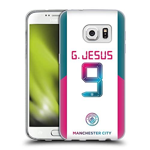 Head Case Designs Licenciado Oficialmente Manchester City Man City FC Gabriel Jesus 2021/22 Players Away Kit Group 1 Carcasa de Gel de Silicona Compatible con Samsung Galaxy S7