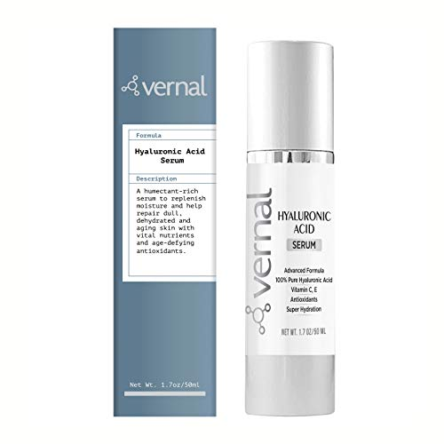 41E0YqNVbCL - Vernal's 100% Pure Hyaluronic Acid Serum – Rich With Vitamins C, A, D, E and Age-Defying Antioxidants - Best Anti Wrinkle, Anti Aging Face Serum that Lifts and Firms Skin, Made in USA
