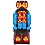 CO-Z 55W Massage Chair Cushion w 16 Nodes for Men & Women | Shiatsu Kneading Heating Vibrating Massage Pad w Leg Massager for Neck Back Shoulder & More | Ideal for Office Chair, & More
