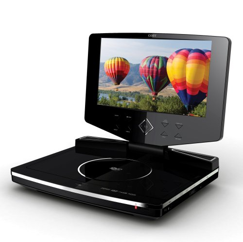 Coby TF-DVD8503 8.5-Inch Widescreen TFT Portable DVD/CD/MP3 Player with Swivel Screen, Black