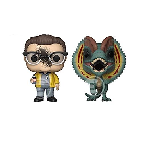 Group7 Funko Pop Movies : Jurassic Park - Dennis Nedry & Dilophosaurus 3.75inch Vinyl Gift for Movies Fans Toys