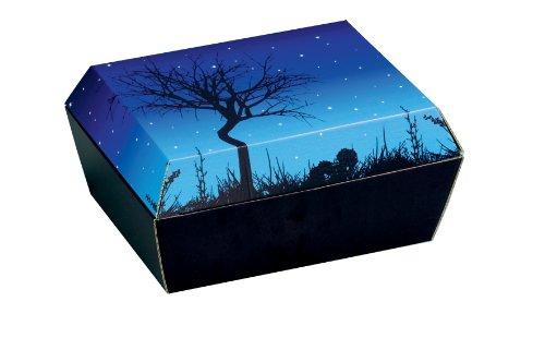 Amopet Boîte en carton ondulé pour lapins nains et cochons d'Inde Taille 2 28 x 22,5 x 14 cm