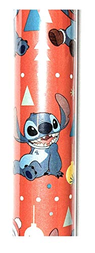 Lilo and Stitch Christmas Gift Wrapping Paper 40 Sq. Ft, New