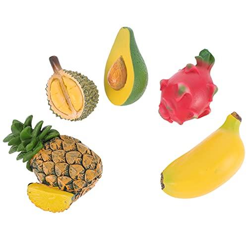 HEMOTON 5 Unidades de Imanes de Nevera de Frutas Creativos para Niños Juguetes Magnéticos de Dibujos Animados Pegatinas de Refrigerador Pegatinas Bonitas Decoración para El Refrigerador