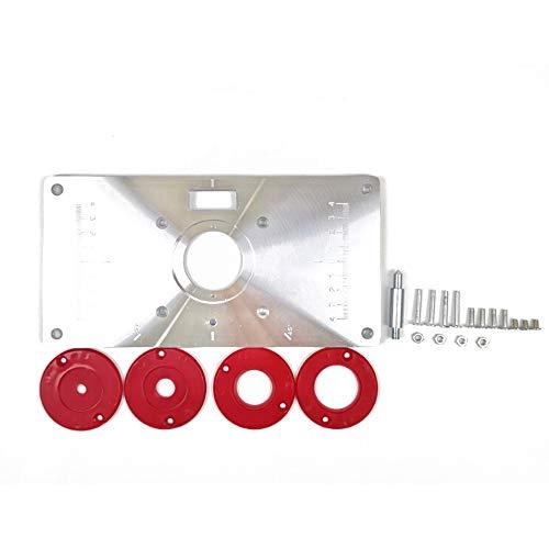 Ritioner Mesa de fresado Multifuncional Placa de inserción Bancos de carpintería Máquina de Grabado de Aluminio Modelos de Fresas de Aluminio Máquina de Grabado con 4 Anillos